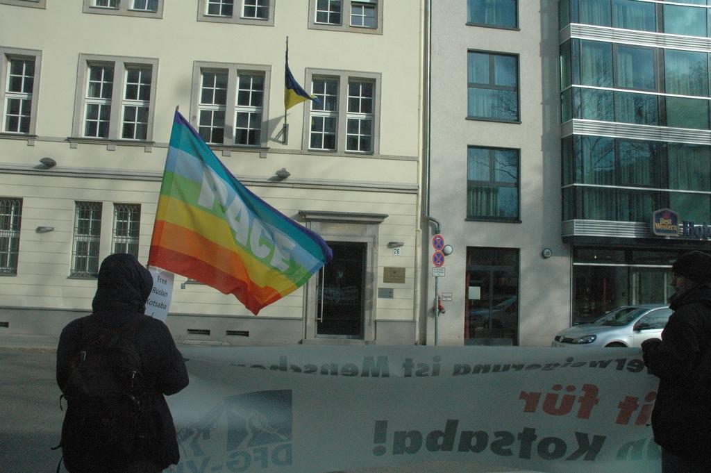 Kundgebung Freiheit für Ruslan Kotsaba